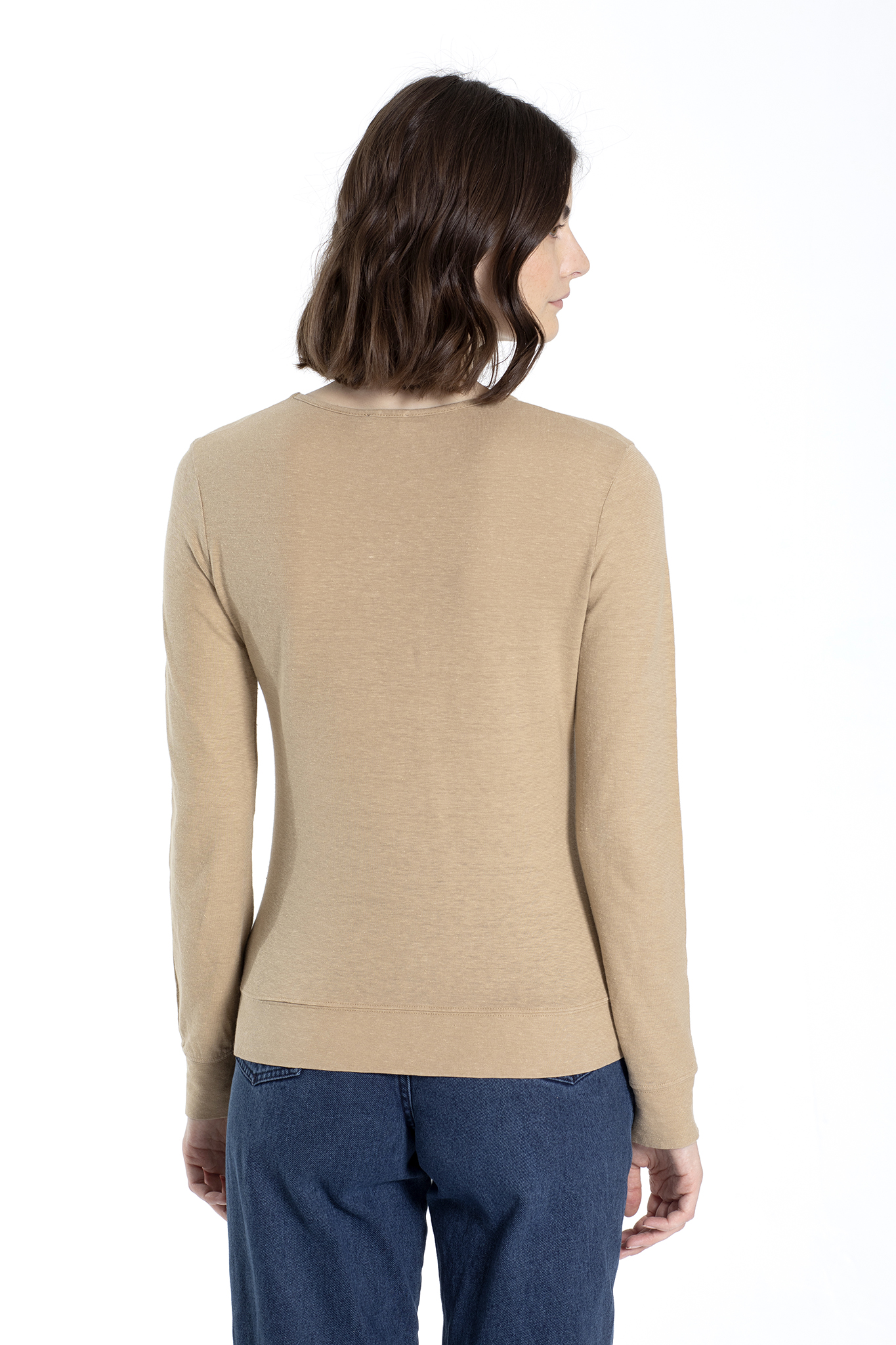 Long Sleeve Top - Mira - Lark Beige